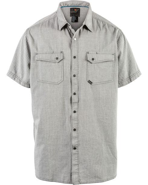 5.11 Tactical Men's Herringbone Short Sleeve Shirt, Charcoal, hi-res
