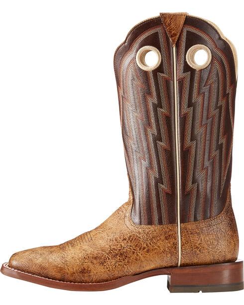 Ariat Men's Tan Fast Action Leather Cowboy Boots - Square Toe , Tan, hi-res