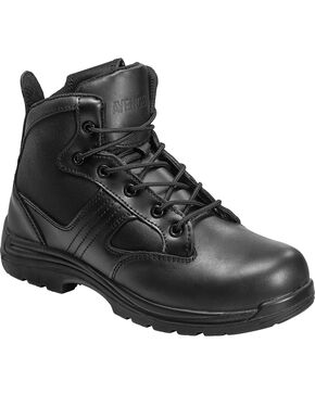 Avenger Men's Side-Zip Work Boots - Composite Toe, Black, hi-res