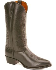 Nocona Men's Imperial Calfskin Cowboy Boots - Medium Toe, Black, hi-res