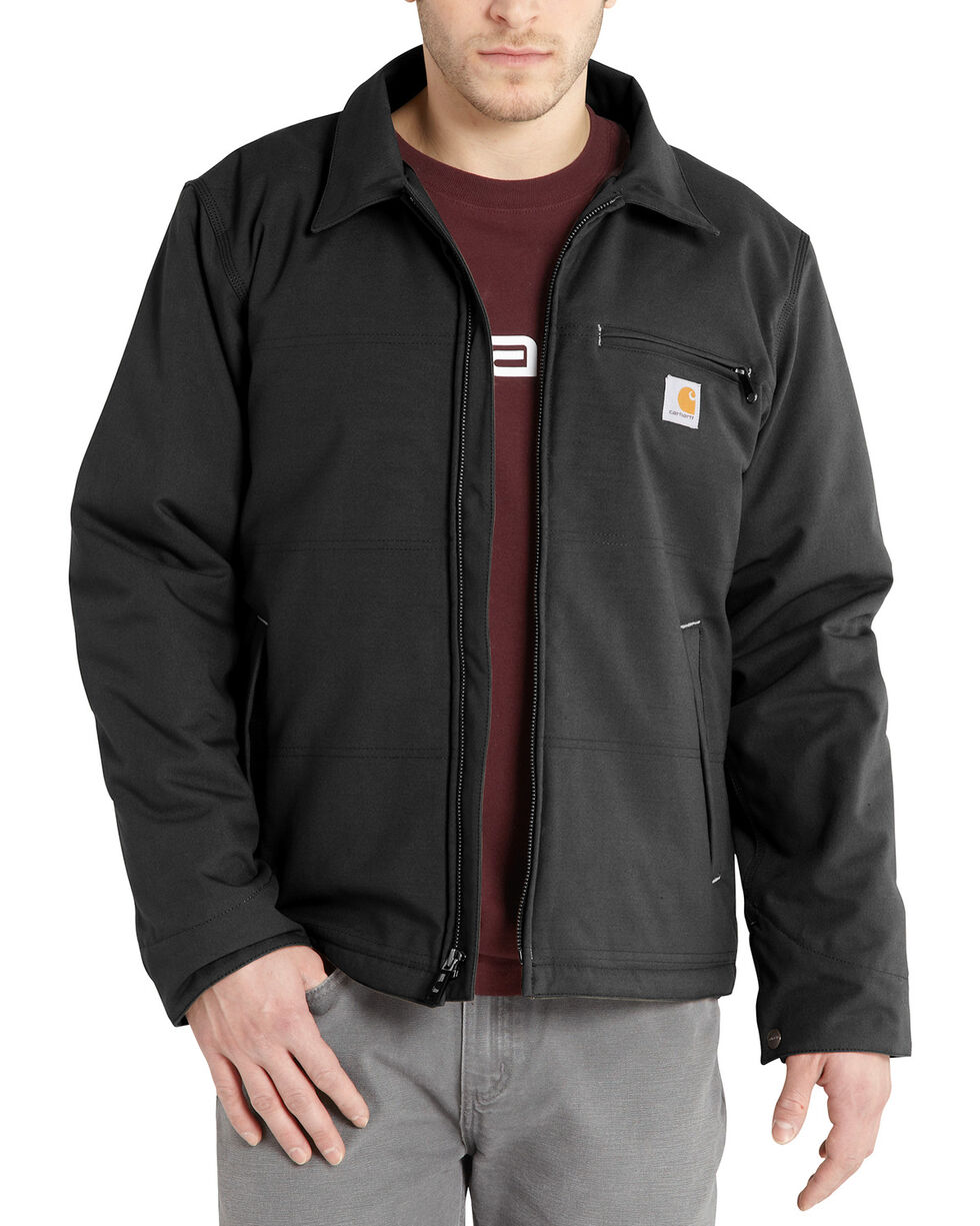Carhartt Men's Black Quick Duck Livingston Jacket - Tall, Black, hi-res