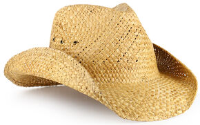Cody James Maverick Classic Straw Cowboy Hat, Brown, hi-res