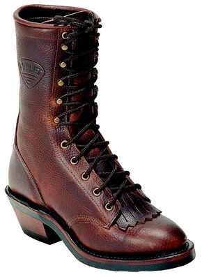 """Boulet Packer Grizzly Mountain 9"""" Lace Up Boots - Round Toe, Brown, hi-res"""