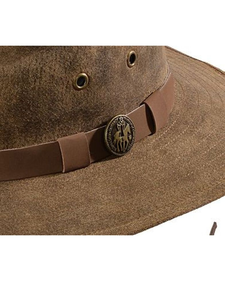 Outback Trading Co. Kodiak Leather Hat, Brown, hi-res