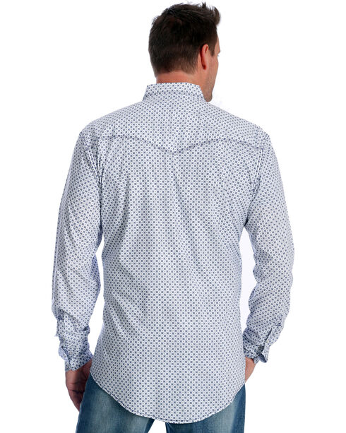Wrangler Men's Navy Print 20X Advanced Comfort Competition Shirt - Tall, Navy, hi-res