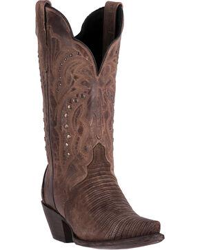 Dan Post Women's Talisman Teju Lizard Cowboy Boots - Snip Toe, Sand, hi-res