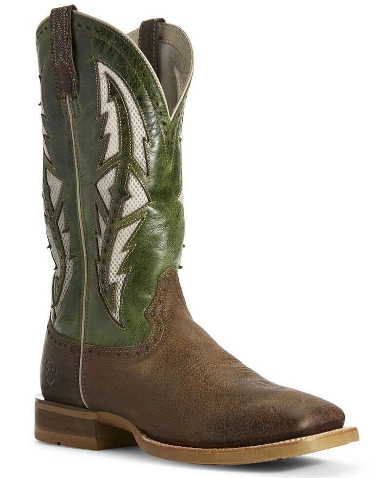 Ariat Men's Cowhand Venttek Western Boots - Wide Square Toe, Brown, hi-res