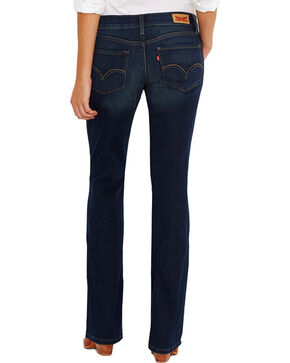 Levi's Women's 524 Low Rise Boot Cut Jeans, Blue, hi-res