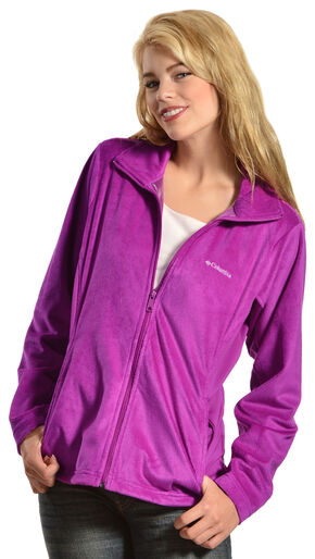 Columbia Women's Hotdots II Full Zip Fleece Jacket, Plum, hi-res