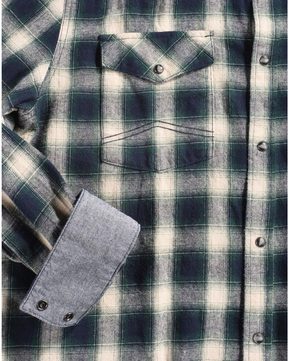 Cody James Men's Plaid Bobcat Long Sleeve Flannel, Green, hi-res