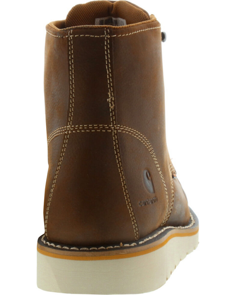 "Carhartt Men's 6"" Brown Waterproof Wedge Boots - Moc Toe, Brown, hi-res"
