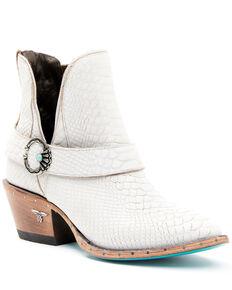 Lane Women's Mattie Fashion Booties - Round Toe, White, hi-res