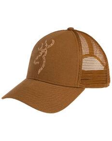 Browning Men's Tan Pro Cork Embroidered Camo Logo Mesh-Back Ball Cap , Tan, hi-res