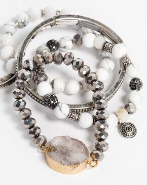 Idyllwind Women's Stretch Charm Bracelet Stack, Silver, hi-res