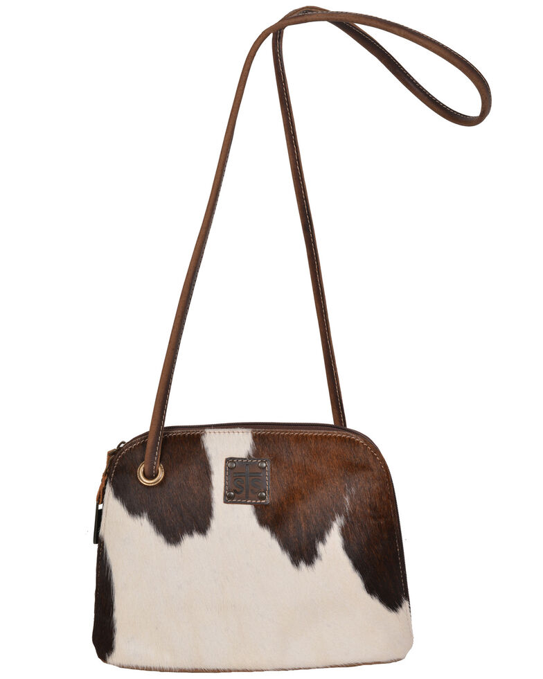 STS Ranchwear By Carrol Cowhide Baroness Classic Crossbody, Distressed Brown, hi-res