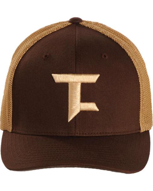 Tuf Cooper Performance Brown and Tan Flexfit Trucker Cap, Brown, hi-res