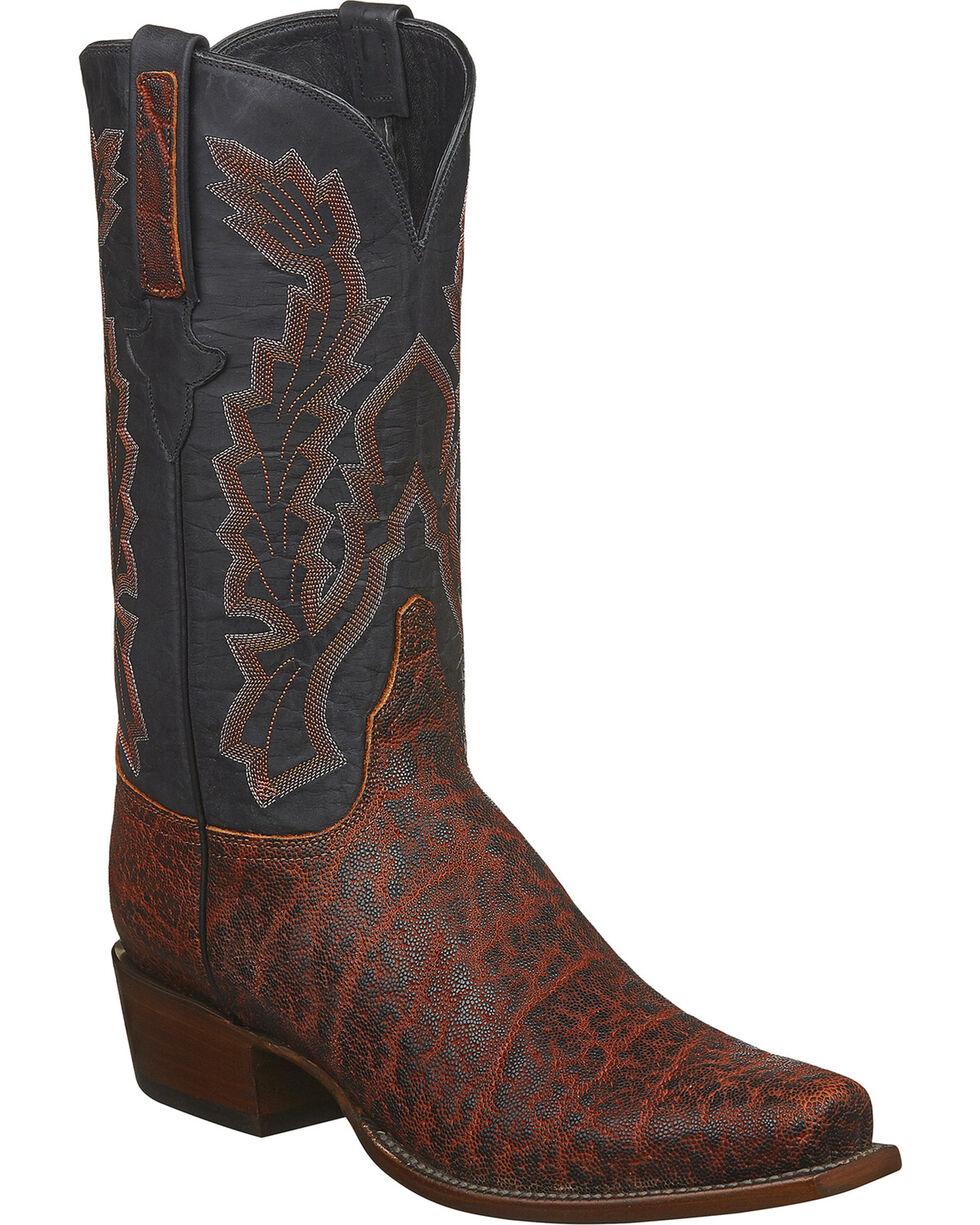 Lucchese Men's Handmade Kirkland Bark Elephant Western Boots - Square Toe, Bark, hi-res