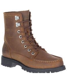 Harley Davidson Men's Brentmoore Lace-Up Moto Boots - Soft Toe, Brown, hi-res