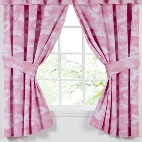 Browning  Buckmark Camo Pink Rod Pocket Curtains, Pink, hi-res