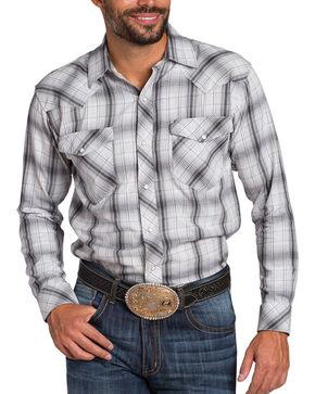 Resistol Men's Double R Gillete Plaid Long Sleeve Shirt, White, hi-res