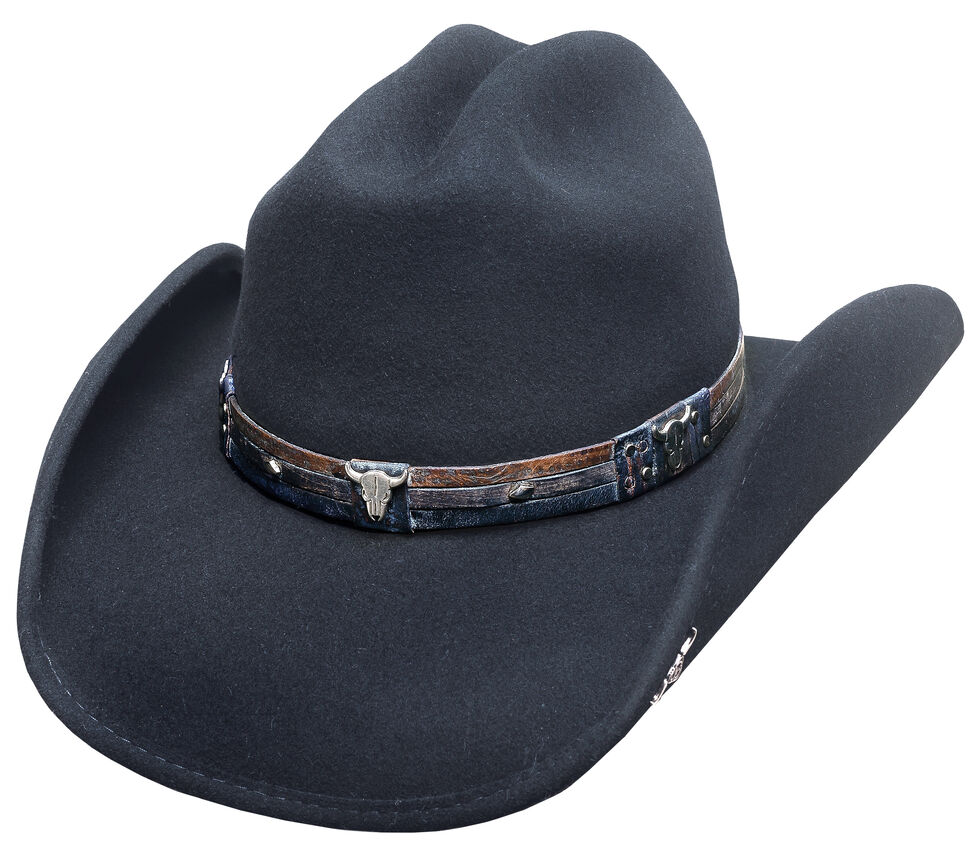 Bullhide Biting the Dust Hat, Black, hi-res