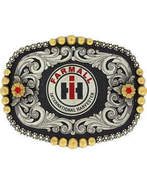 Montana Silversmiths Silver Case IH Fancy Dress Belt Buckle , Silver, hi-res