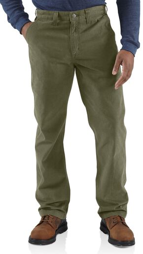 Carhartt Rugged Khaki Work Pants, Green, hi-res