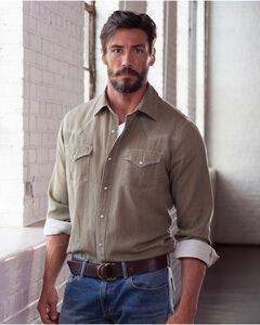 Ryan Michael Men's Teak Waffle Texture Shirt, Brown, hi-res
