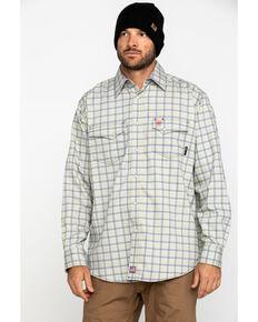 Ariat Men's FR Whitestone Solid Long Sleeve Work Shirt , Blue, hi-res
