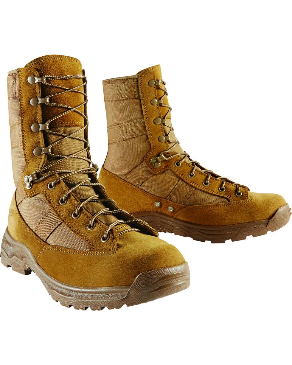 "Danner Men's Coyote Hot 8"" Reckoning Tactical Boots - Round Toe, Sand, hi-res"