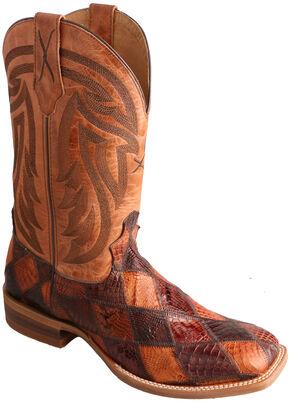 Twisted X Peanut Caiman Rancher Cowboy Boots - Square Toe , Multi, hi-res