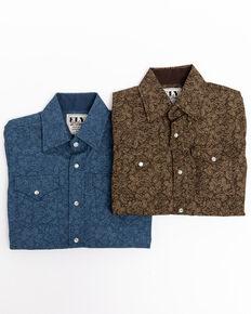 Ely Cattleman Boys'  Mallard Paisley Print Long Sleeve Western Shirt , Multi, hi-res