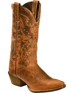 Rawhide by Abilene Boots Women's Nailhead Cowgirl Boots - Snip Toe, Tan, hi-res