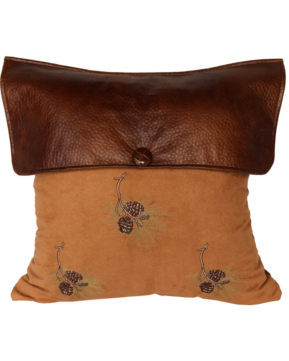 HiEnd Accents Lodge Pine Cone Pillow, Multi, hi-res