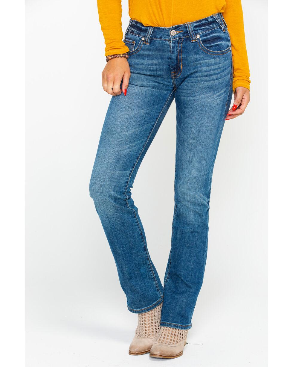 Rock & Roll Cowgirl Women's Large Khaki Boyfriend Jeans, Indigo, hi-res