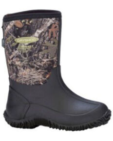 Dryshod Boys' Camo Tuffy Rubber Boots - Soft Toe, Camouflage, hi-res