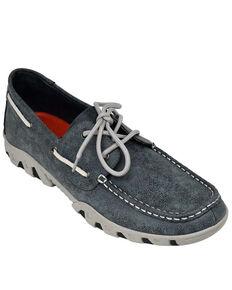 Ferrini Men's Smoky Black Loafer Shoes - Moc Toe, Black, hi-res