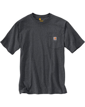 Carhartt Short Sleeve Pocket Work T-Shirt - Big & Tall, Grey, hi-res
