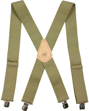 American Worker Men's Elastic Suspenders, Tan, hi-res