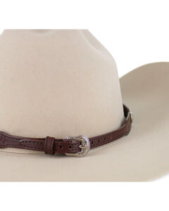 Cody James® Cross Stitched Hat Band, Chocolate, hi-res