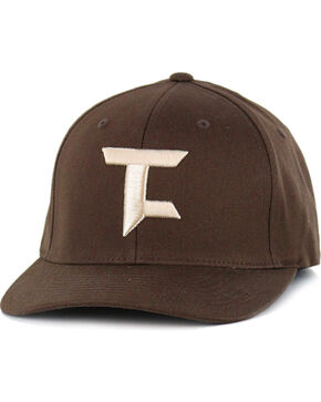 Tuf Cooper Performance Brown and Khaki Logo Cap, Brown, hi-res