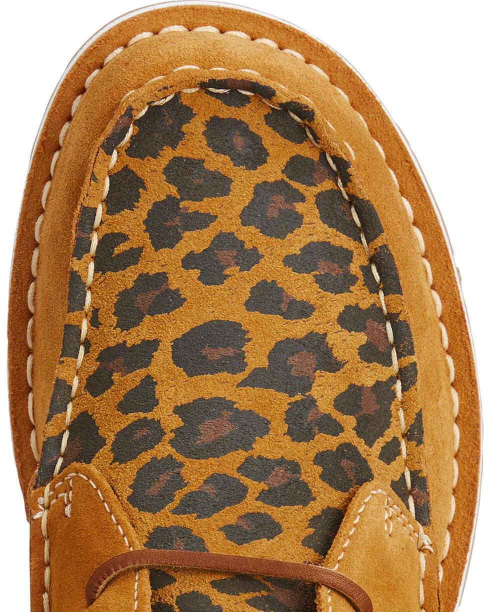 Ariat Women's Leopard Print Fringe Cruiser Chukkas - Moc Toe , Tan, hi-res