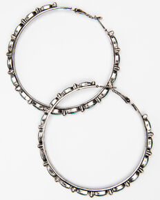 Idyllwind Women's The Go Around Textured Hoop Earrings, Silver, hi-res