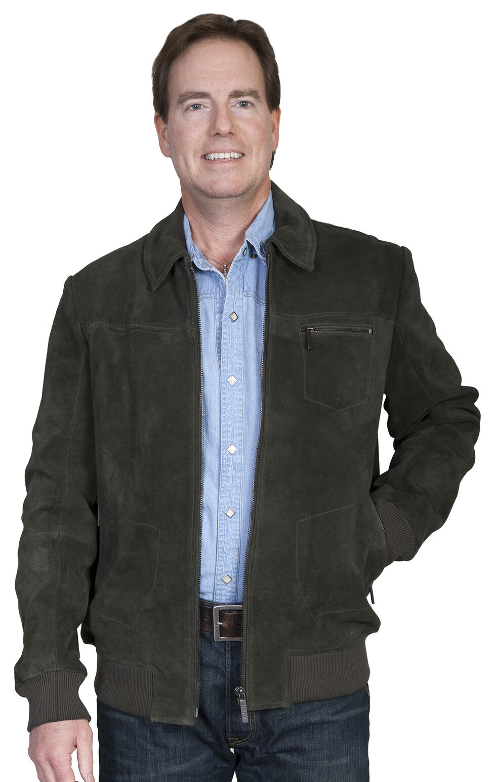 Scully Men's Suede Jacket, Loden, hi-res