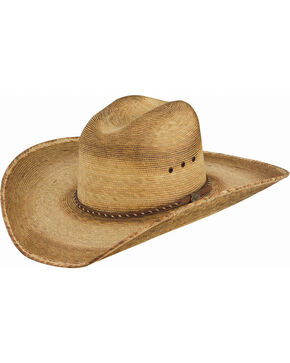 Justin Men's Toast Prado Palm Straw Hat , Beige/khaki, hi-res