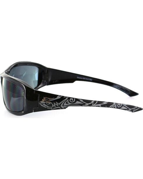 Edge Eyewear Brazeau Skull Safety Sunglasses, Black, hi-res