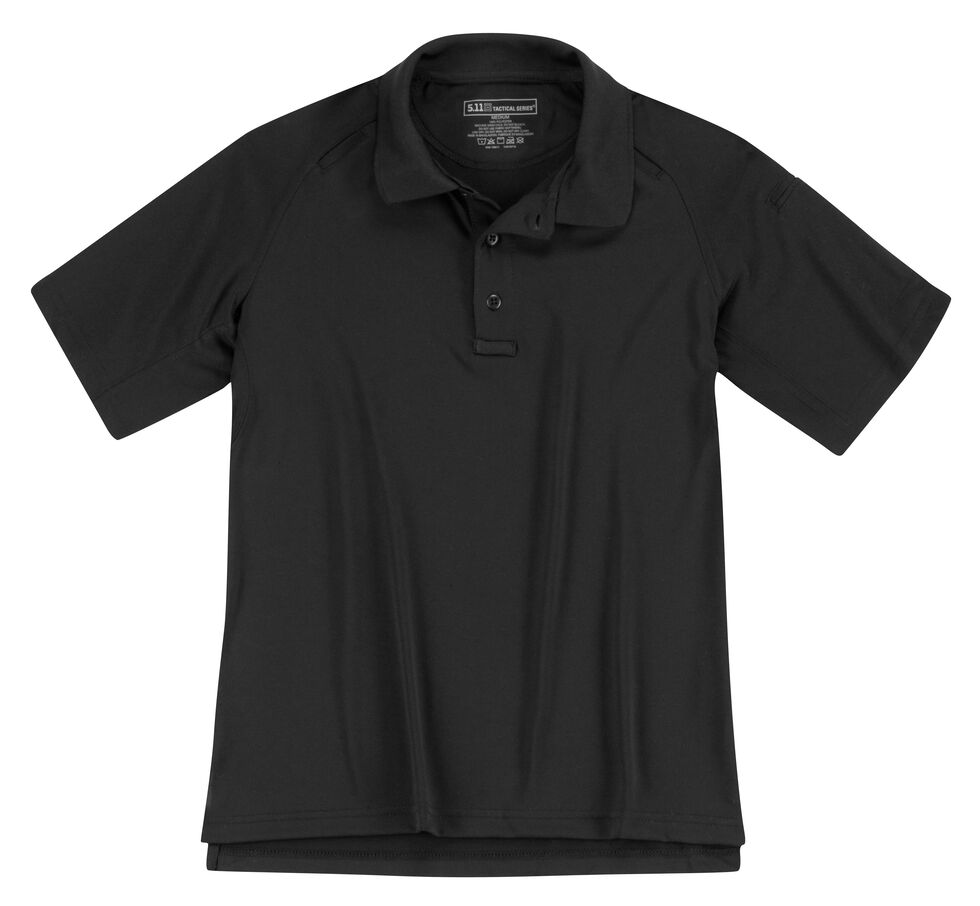 5.11 Tactical Women's Performance Short Sleeve Polo, Black, hi-res