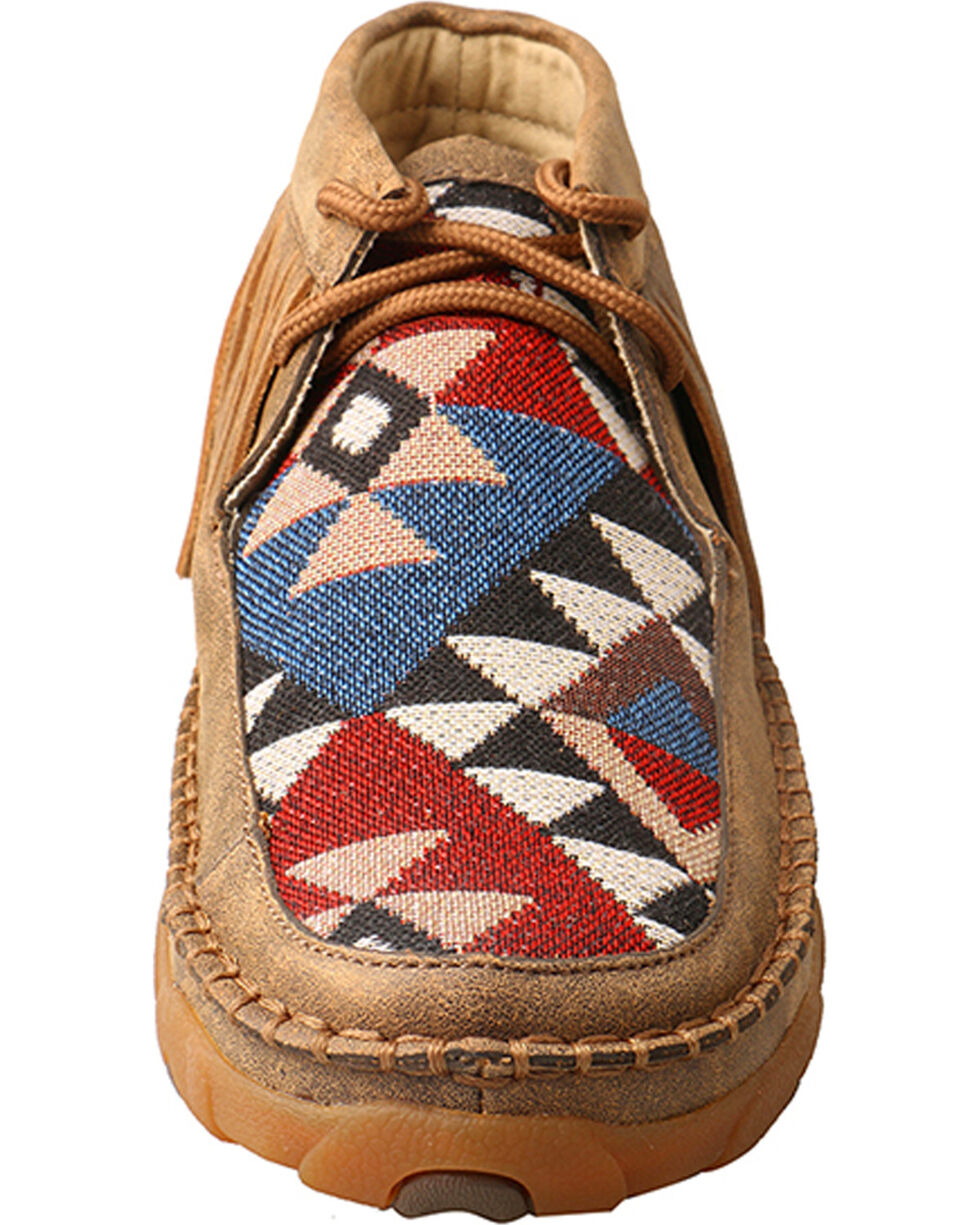Twisted X Women's Fringe Driving Mocassins, Brown, hi-res