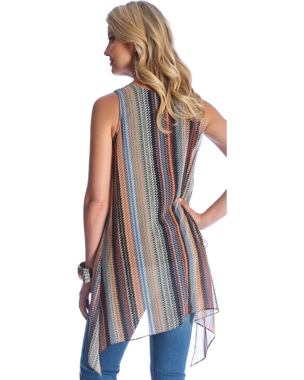 Wrangler Women's Tan Sleeveless Flyaway Top , Tan, hi-res