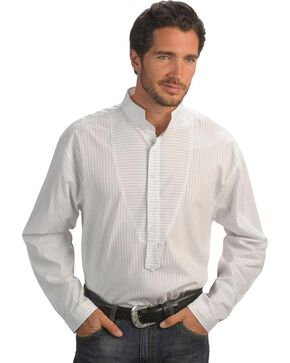 Rangewear by Scully Pinstripe Frontier Shirt - Big & Tall, White, hi-res
